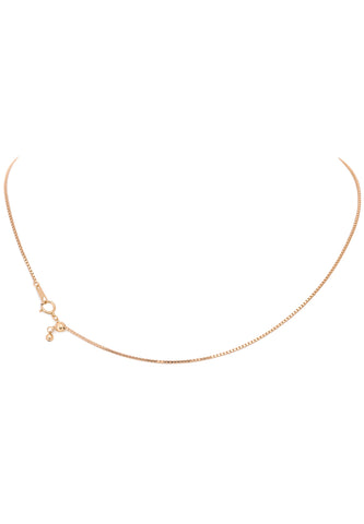 18K Yellow Gold Adjustable (1.0 MM Thickness) Box Chain
