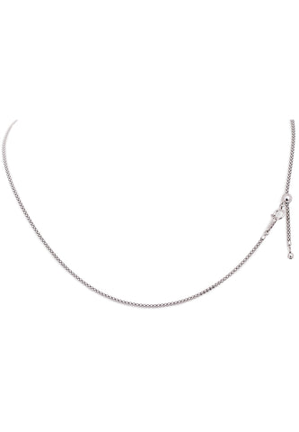 18K White Gold Adjustable (1.60 MM Thickness) Popcorn Chain