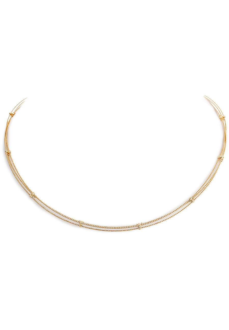 18K Yellow Gold Adjustable Choker Chain - K.D. Jewelry Sf