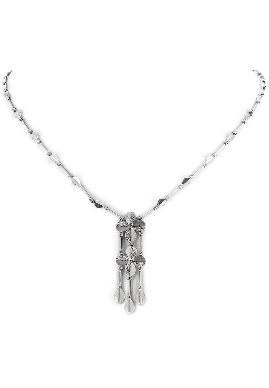 Floral Diamond Necklace Set - K.D. Jewelry Sf