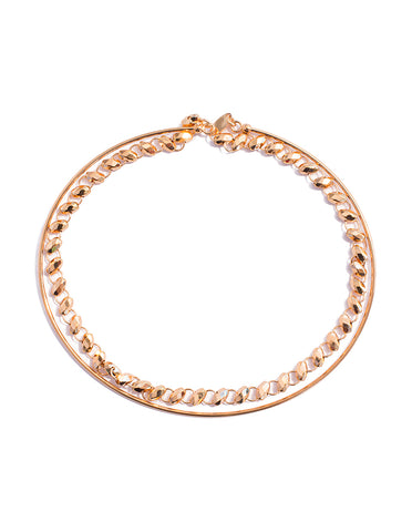 Snap on Two Layer Chain Bangle