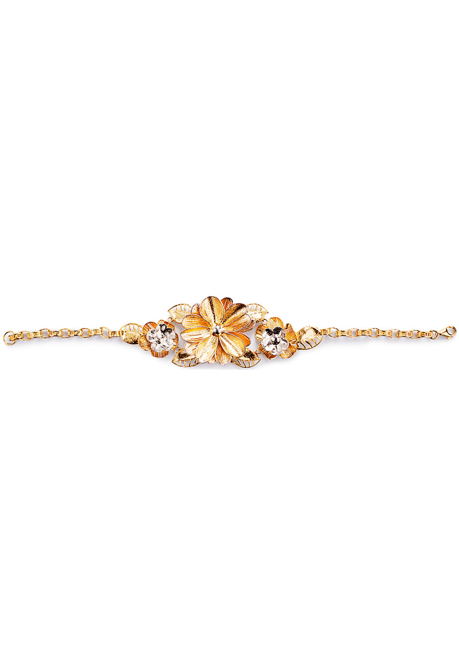 Gold Floral Choker Set - K.D. Jewelry Sf