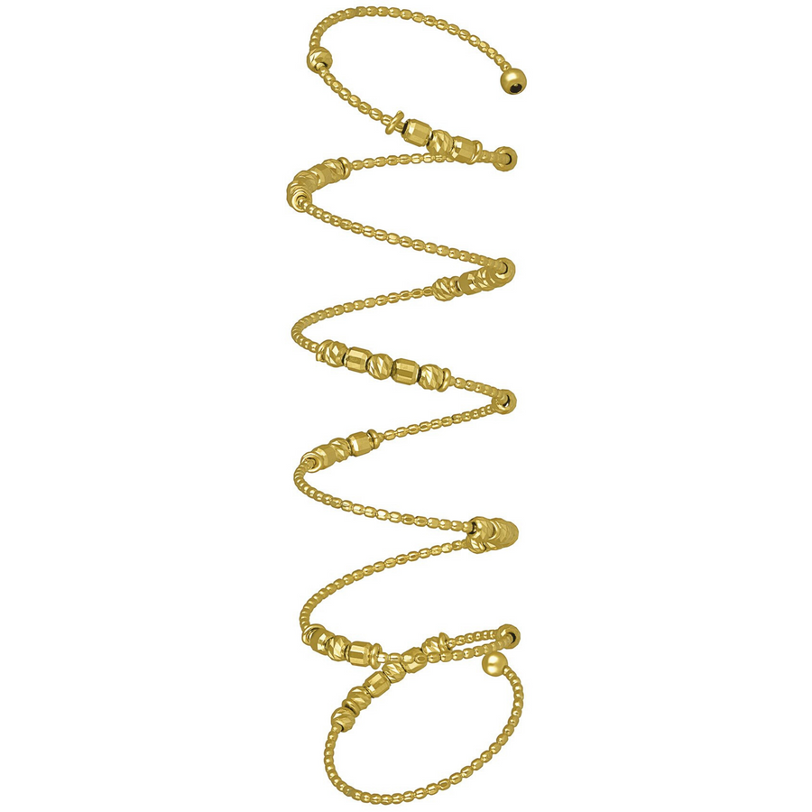 18K Classic Yellow Gold Spiral Ring