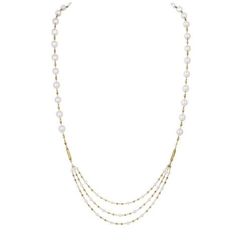 Akoya Pearl Magnet Necklace Turns Bracelet