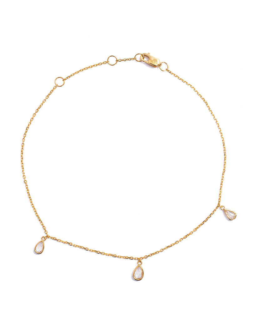 Rose Cut Diamond Anklet - K.D. Jewelry Sf