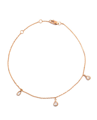 Rose Cut Diamond Anklet