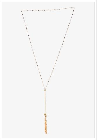 Adjustable Gold Tassel Necklace - K.D. Jewelry Sf