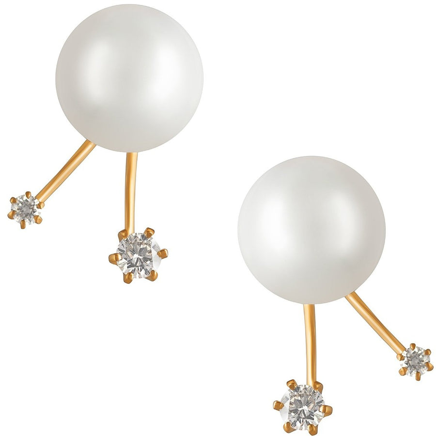 18K Rose Gold South Sea Pearl and Diamond Earrings - K.D. Jewelry Sf
