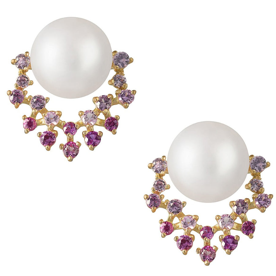 Pink Diamond and Akoya Pearl Earrings - K.D. Jewelry Sf