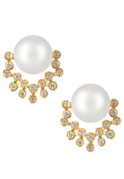 Akoya Pearl and Diamond Earrings - K.D. Jewelry Sf