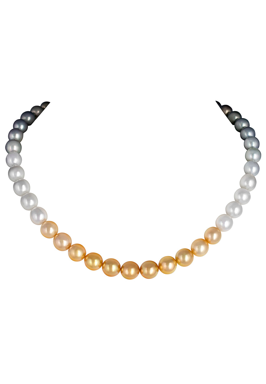 Tahitian Pearl and South Sea Pearl Necklace - K.D. Jewelry Sf