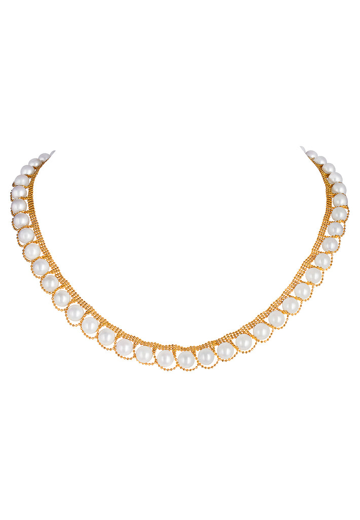 Gold and Akoya Pearl Necklace - K.D. Jewelry Sf