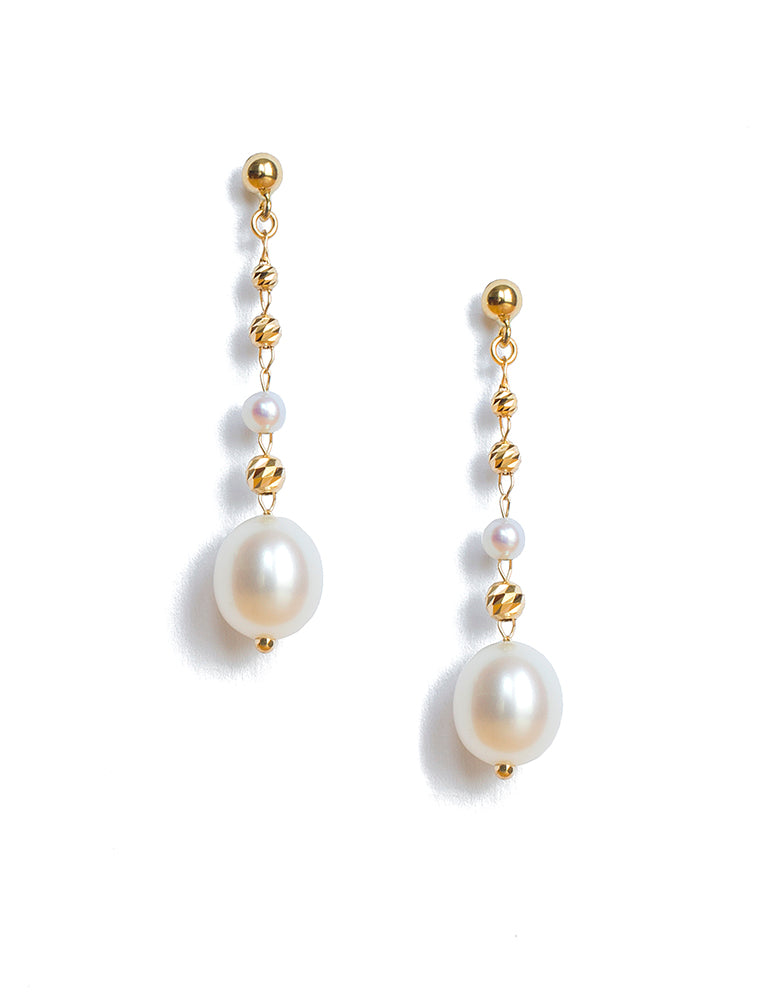 Classic Long Pearl Earrings - K.D. Jewelry Sf