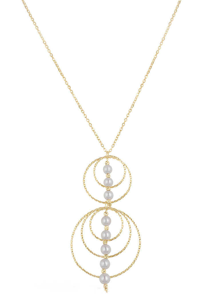Adjustable Akoya Pearl Necklace and Earring Set - K.D. Jewelry Sf