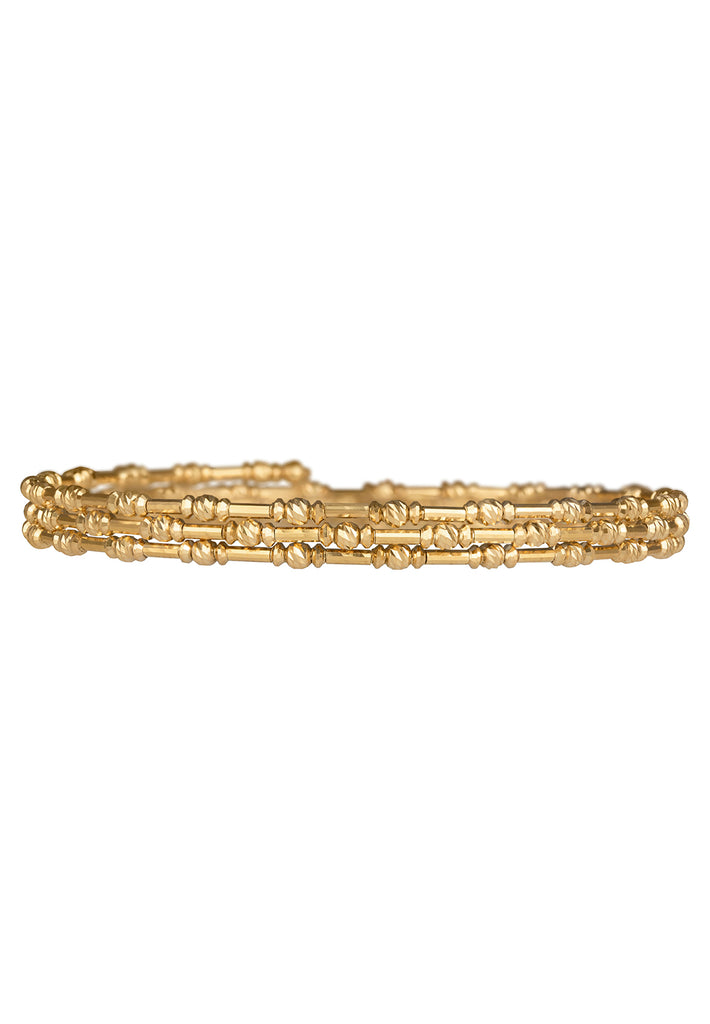 18K Skinny Gold Spiral Bangle - K.D. Jewelry Sf