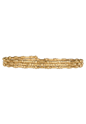 18K Skinny Gold Spiral Bangle