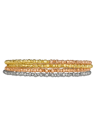 Tricolor Spiral Bangle