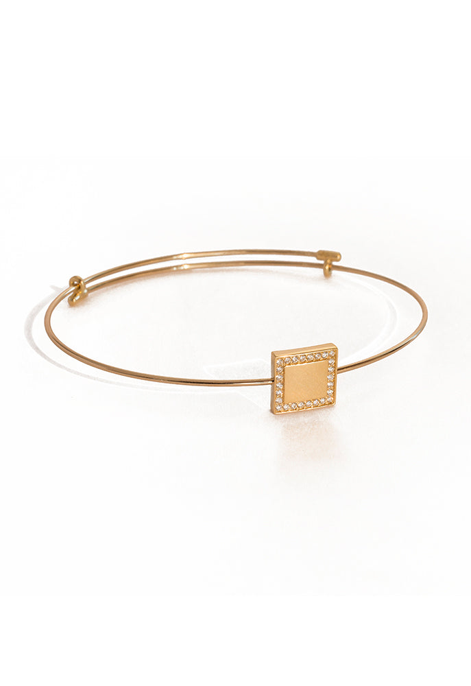 Square Gold Bangle - K.D. Jewelry Sf
