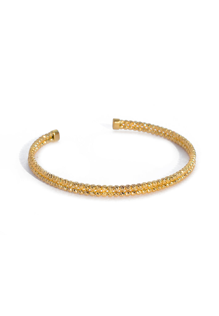 Gold Bead Cuff Bangle - K.D. Jewelry Sf