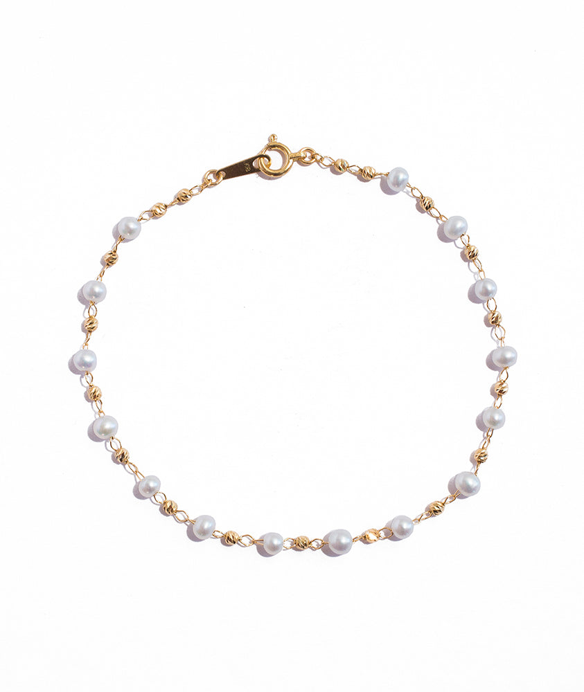 Pearl and Gold Bracelet - K.D. Jewelry Sf