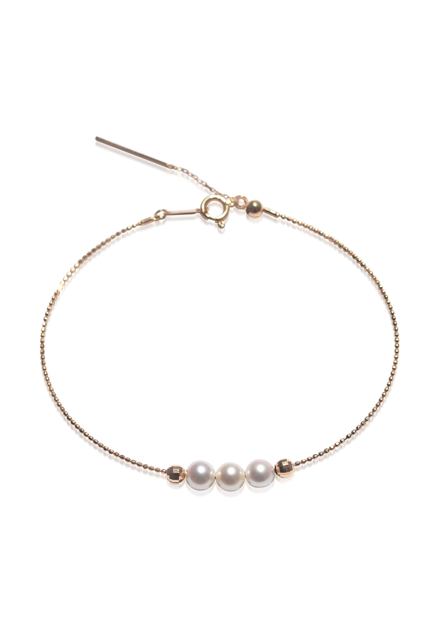 Three Pearl Adjustable Bracelet