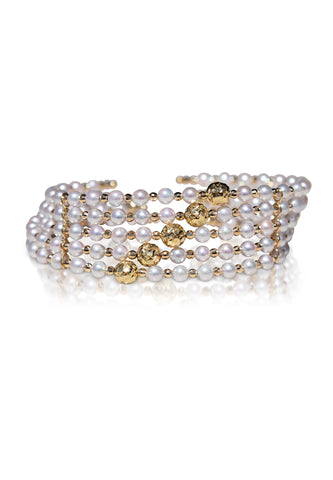 Two-Way Wear Snap On Akoya Pearl Bangle