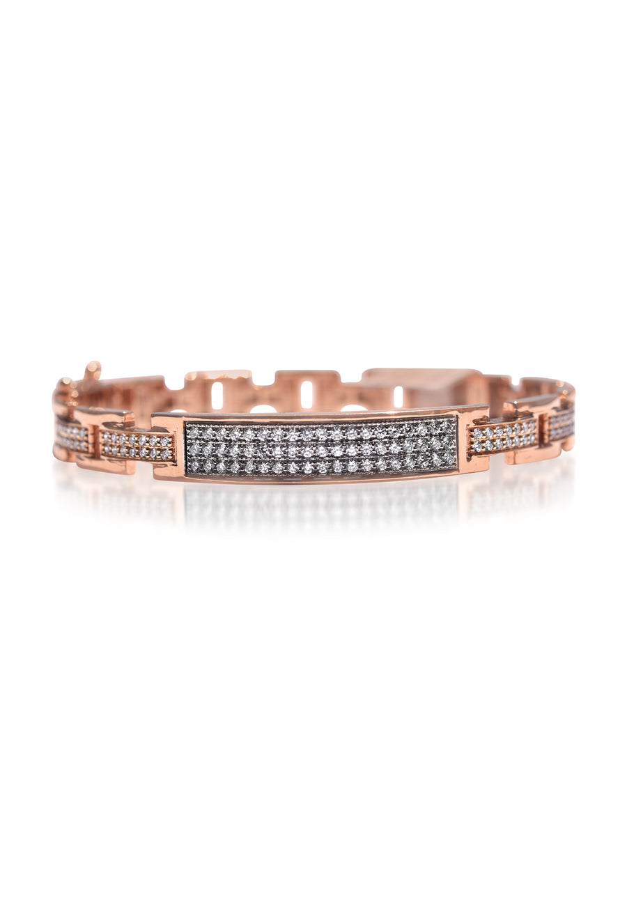 Rose Gold Diamond Link Bangle