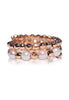 Two-Layer Rose Gold and Akoya Pearl Spiral Ring - K.D. Jewelry Sf