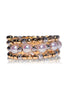 18K Mix Yellow and White Gold Akoya Pearl Spiral Ring - K.D. Jewelry Sf