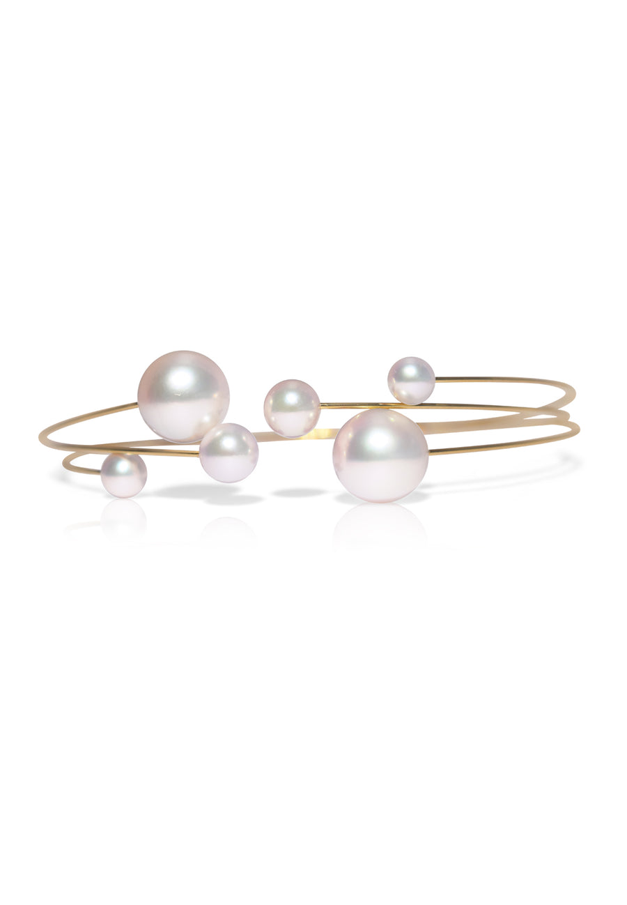 Adjustable Akoya Pearl Bangle - K.D. Jewelry Sf