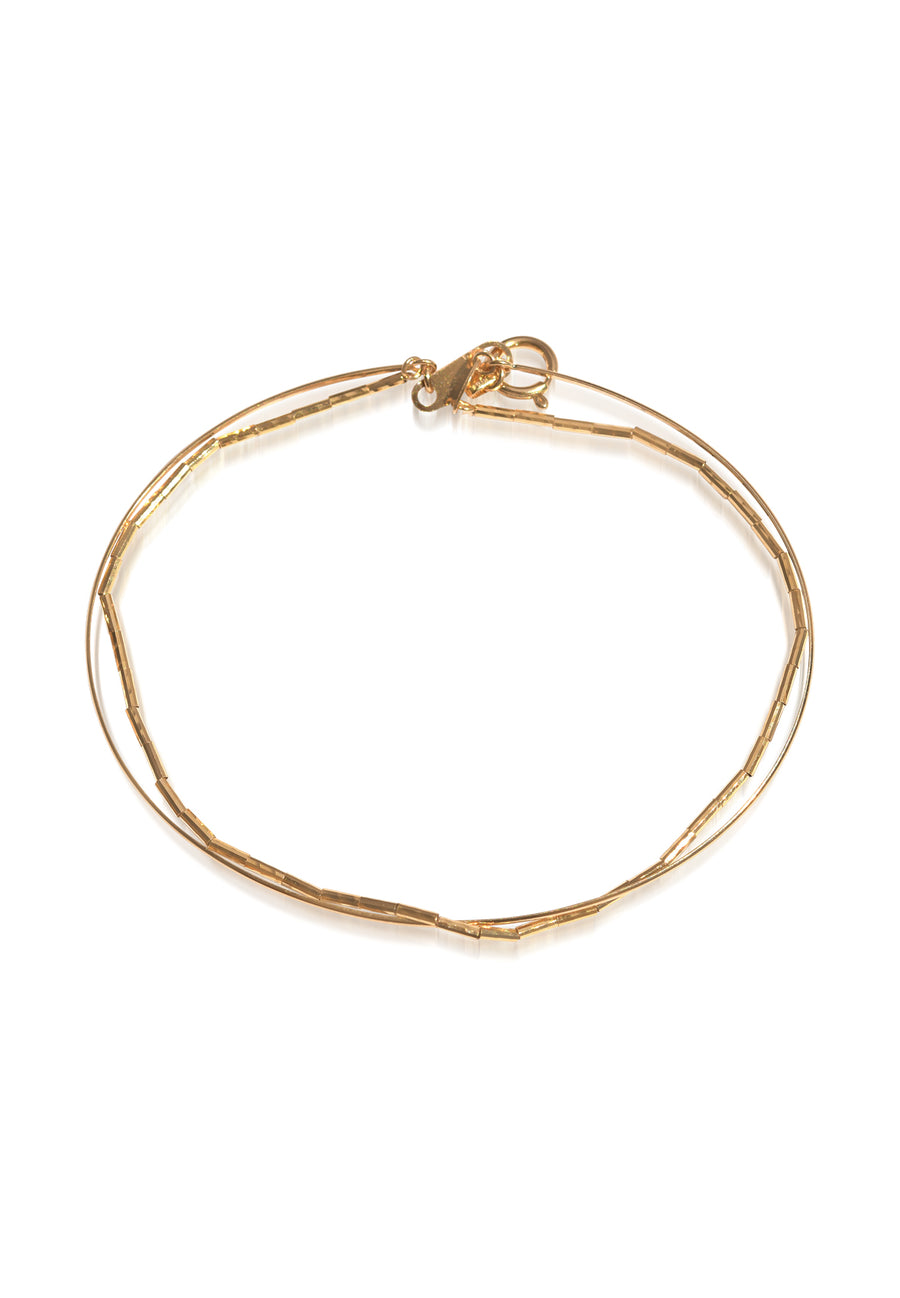 18K Yellow Gold Snap On Bangle