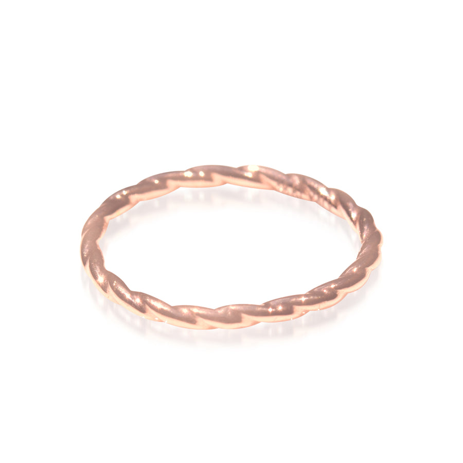 18K Yellow Gold Rope Ring