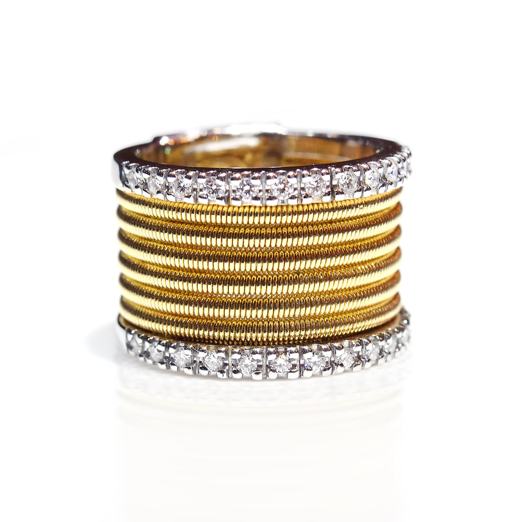 Diamond Gold Wire Ring - K.D. Jewelry Sf