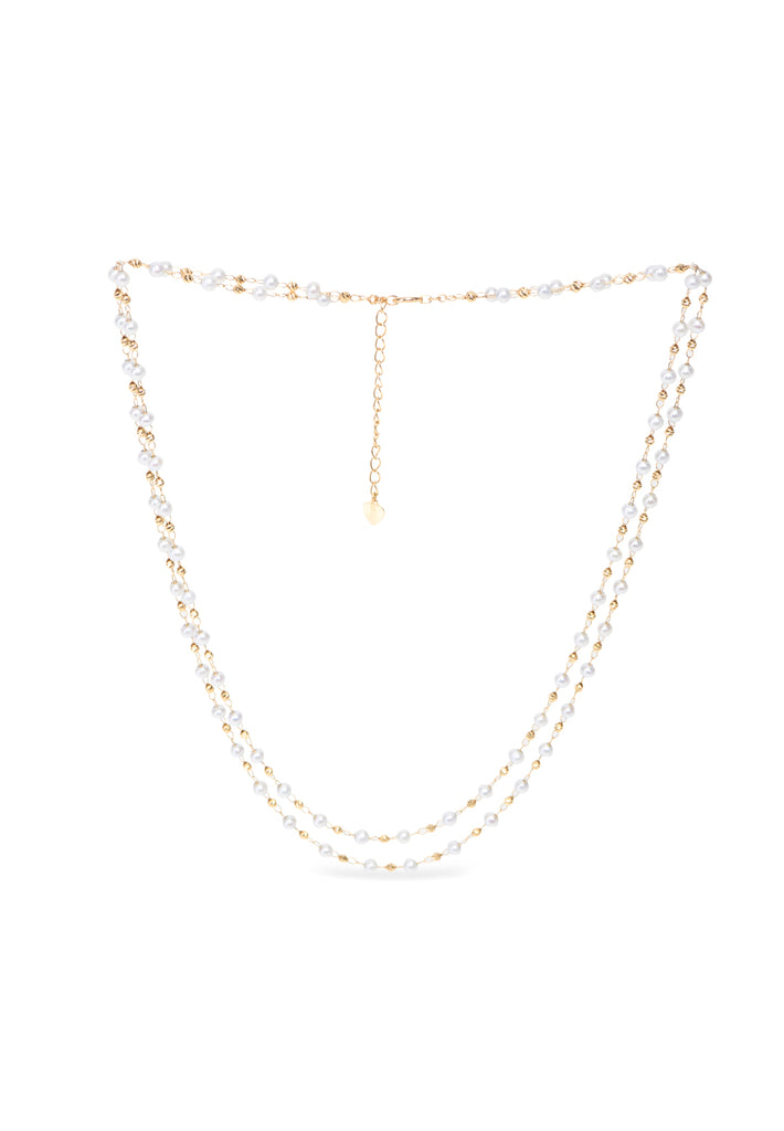 Two Layer Pearl Necklace - K.D. Jewelry Sf