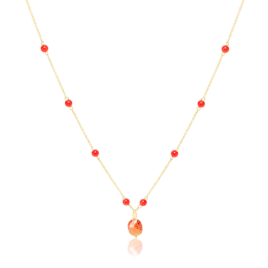 Red Color Stone Necklace - K.D. Jewelry Sf