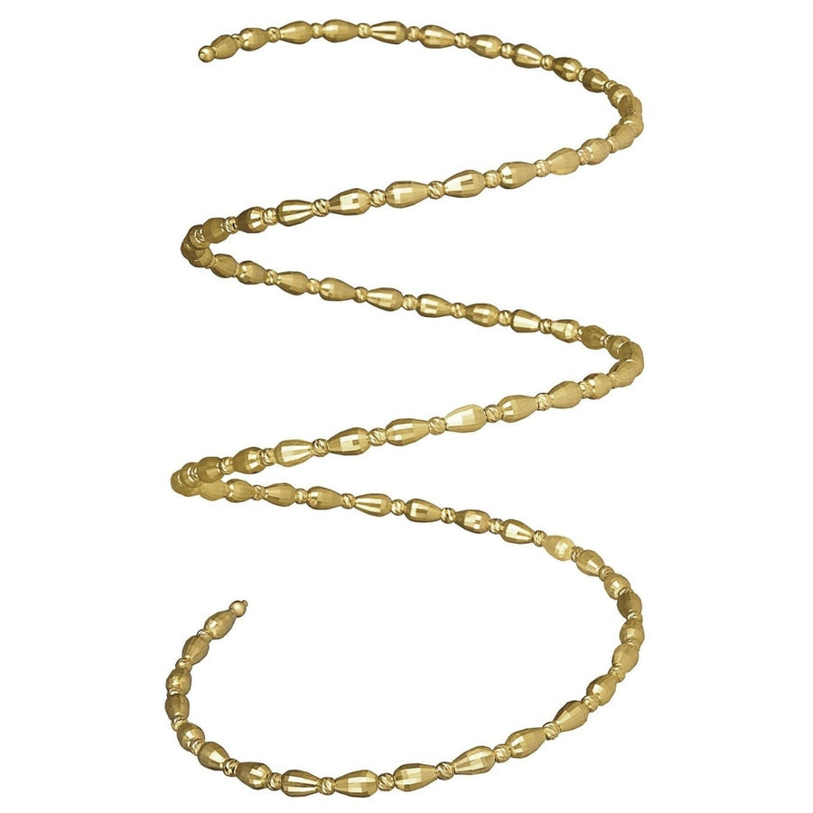 18K Thick Gold Spiral Bangle