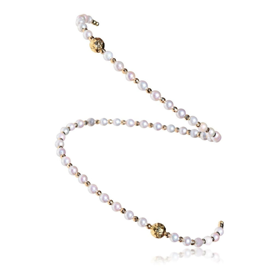 Free-Size Pearl Spiral Bangle