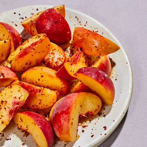 Peaches with Silk Chili & Lime