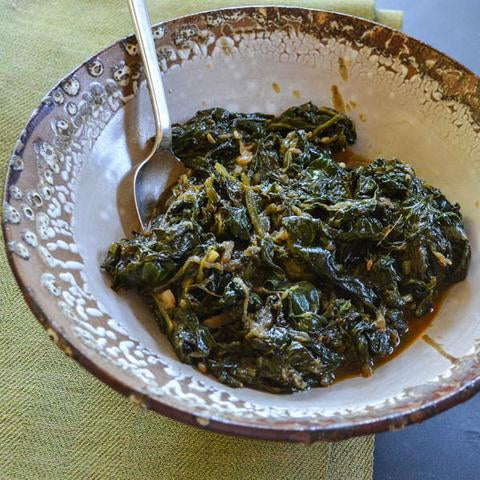 Spinach with Cumin and Garlic