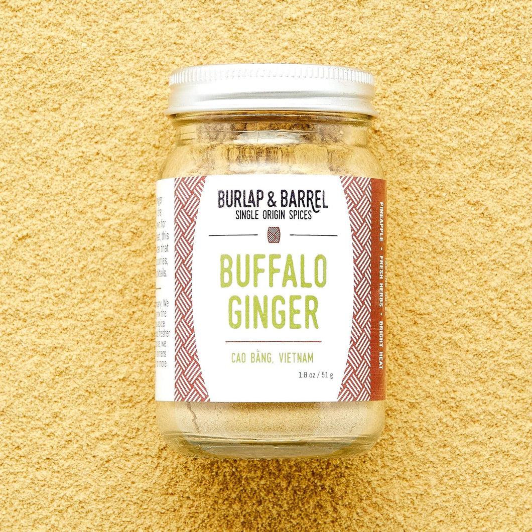 Burlap & Barrel Buffalo Ginger 1.8 oz glass jar