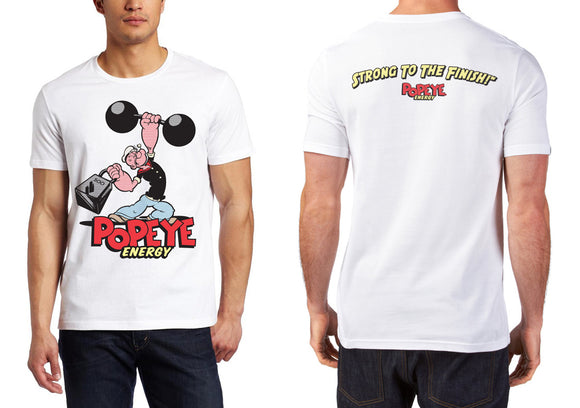 Popeye Energy Mens's S/S T Shirt White – Vintage