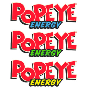 Popeye Energy Logo Slap Stickers 3 Pack Variety