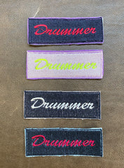 Iron-On Drummer Patch