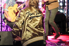Custom Gold Tom Tom Satin Baseball Jacket