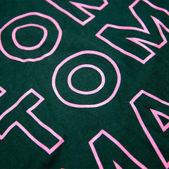 Tom Tom Old School Knockout T-Shirt - Pink on Green