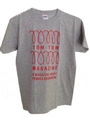 Tom Tom Magazine T-Shirt Grey with Red Print