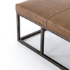 Barnabas Leather Bench