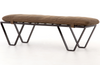 Douglas 60″ Leather Bench