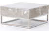 Eileen Concrete and Chrome Coffee Table