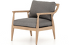 Erick Washed-Brown Outdoor Chair